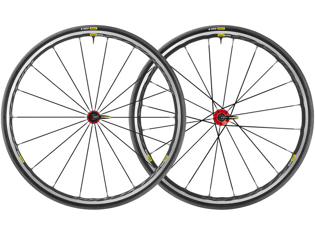 Mavic Ksyrium Elite UST Laufradsatz Shimano/SRAM M-25 schwarz/rot